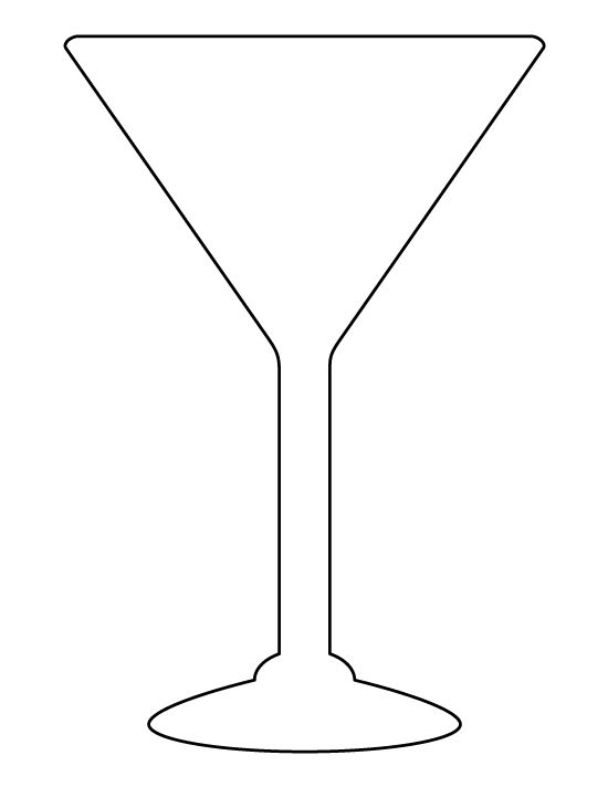martini glass outline martini glass pattern use the printable outline for martini glass outline