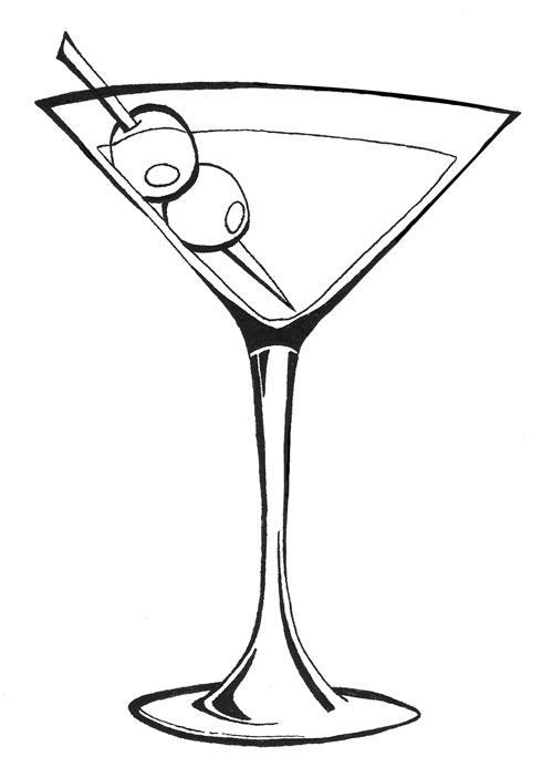 martini glass outline pin by muse printables on printable patterns at glass outline martini