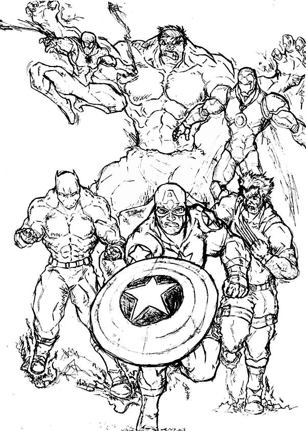 marvel pictures to colour marvel superhero coloring sheets coloringsnet marvel colour pictures to