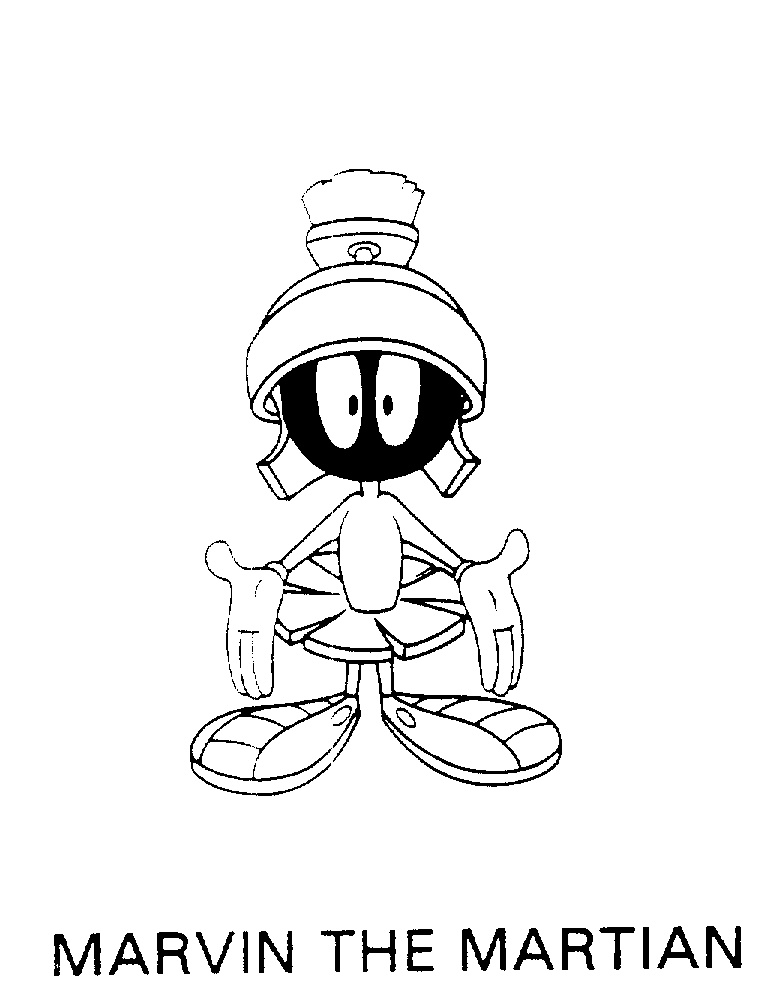 marvin the martian coloring pages marvin the martian coloring page coloring home the coloring martian pages marvin