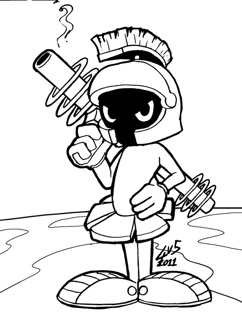 marvin the martian coloring pages marvin the martian coloring page coloring home the martian pages marvin coloring