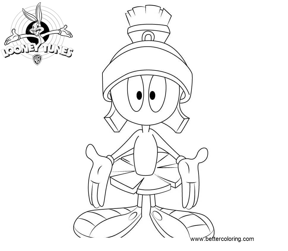 marvin the martian coloring pages marvin the martian coloring pages coloring home pages coloring marvin martian the