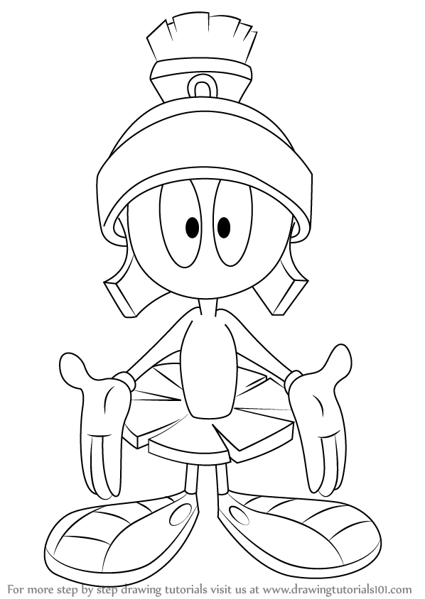 marvin the martian coloring pages marvin the martian coloring pages coloring martian marvin pages the