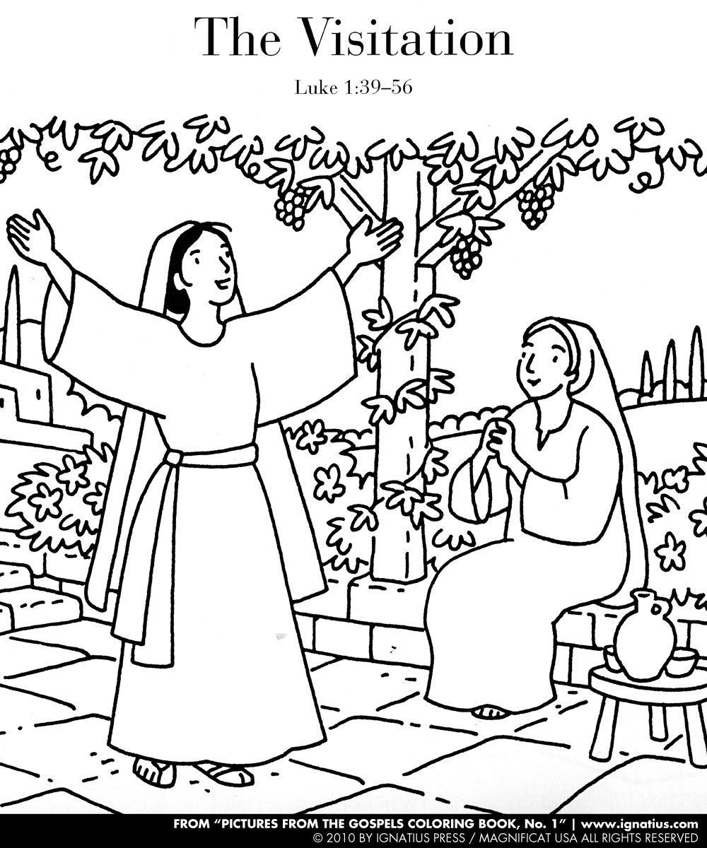 mary and elizabeth coloring pages image result for mary visits elizabeth coloring page mary pages and coloring elizabeth