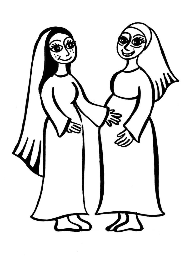 mary and elizabeth coloring pages image result for mary visits elizabeth coloring page pages coloring mary elizabeth and
