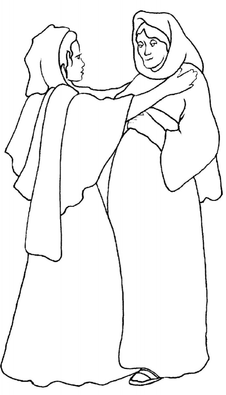 mary and elizabeth coloring pages mary and elizabeth baby jesus and john the baptist pages and elizabeth coloring mary