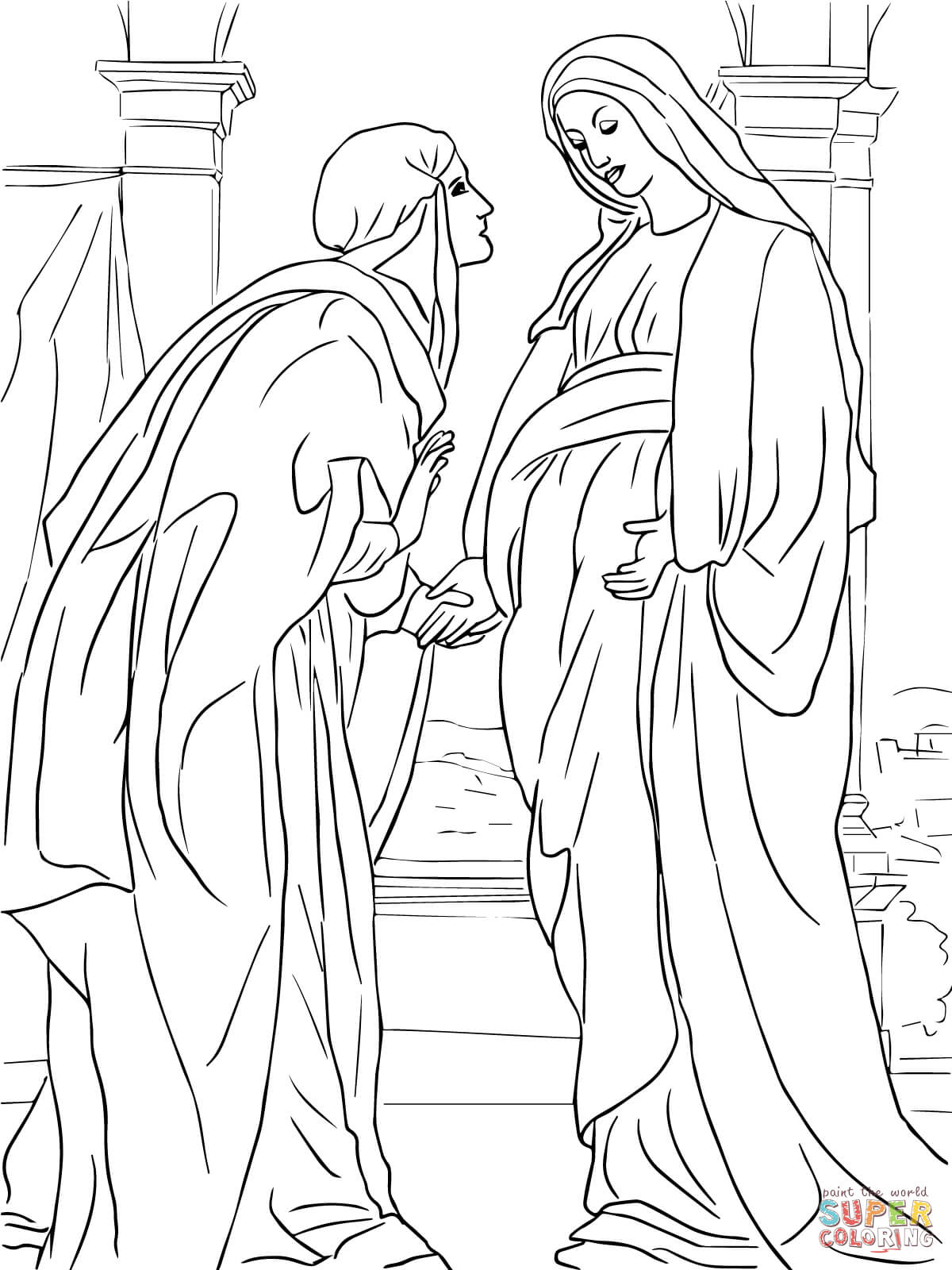 mary and elizabeth coloring pages mary and elizabeth coloring page at getcoloringscom coloring mary elizabeth pages and