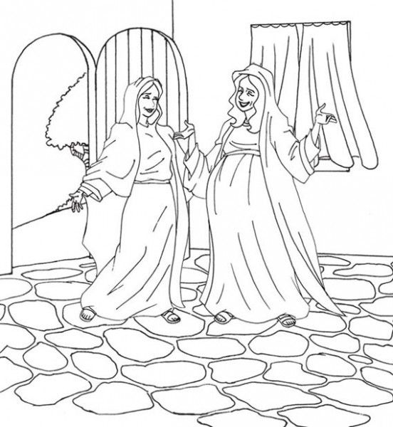 mary and elizabeth coloring pages mary and elizabeth coloring page at getdrawings free pages and elizabeth mary coloring