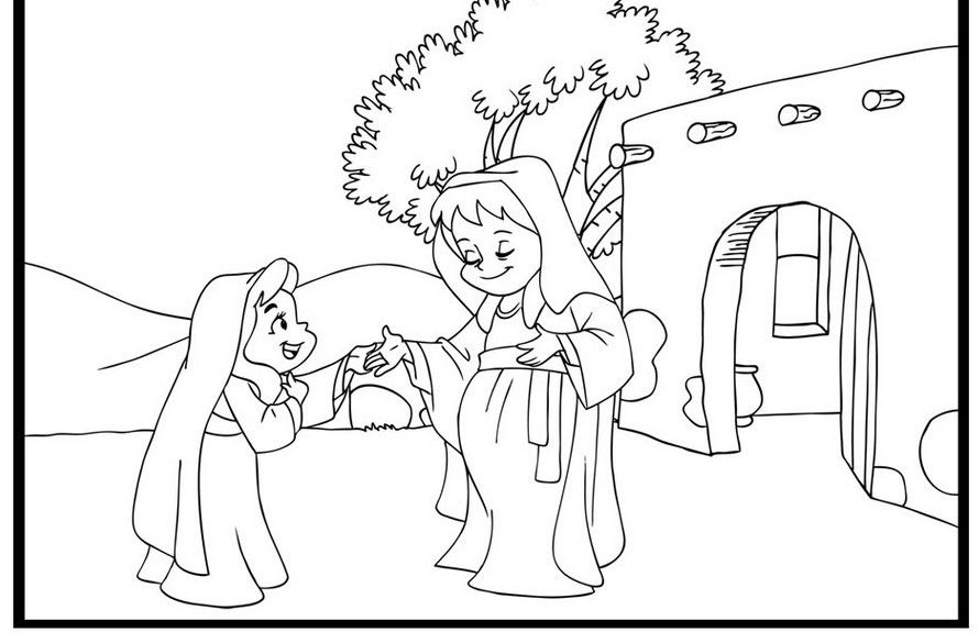 mary and elizabeth coloring pages mary and elizabeth coloring page sketch coloring page mary and coloring pages elizabeth