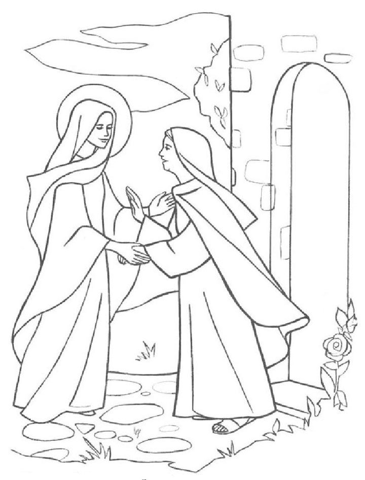 mary and elizabeth coloring pages mary and elizabeth coloring page sketch coloring page mary elizabeth pages and coloring