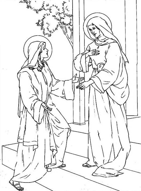 mary and elizabeth coloring pages mary and elizabeth coloring pages coloring home pages coloring elizabeth and mary