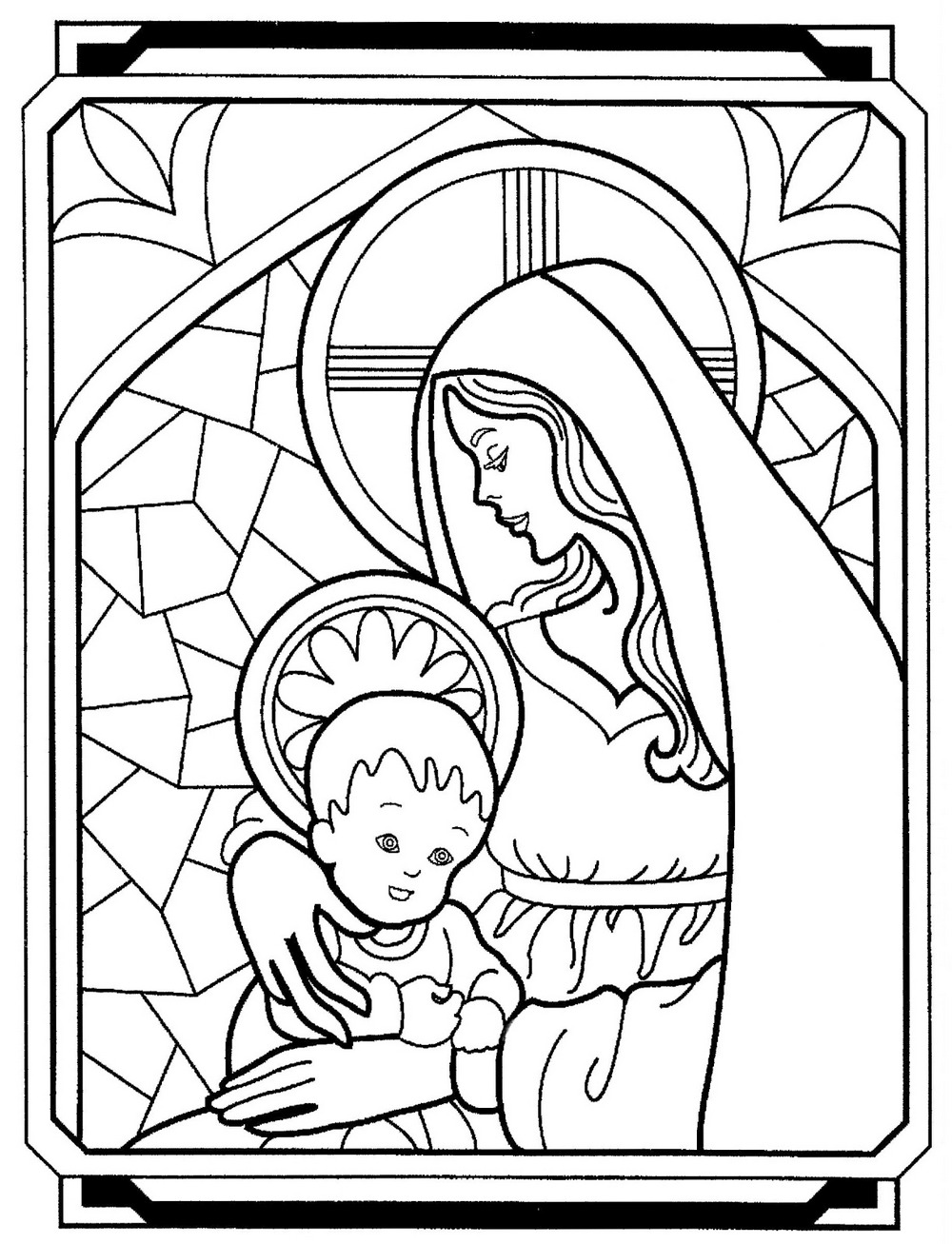 mary coloring pages mother mary coloring page at getcoloringscom free mary coloring pages