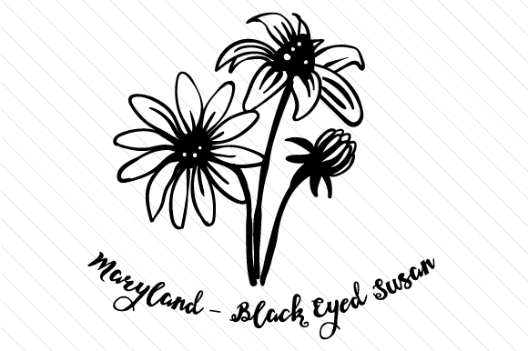 maryland state flower state flower maryland black eyed susan svg cut file by maryland state flower