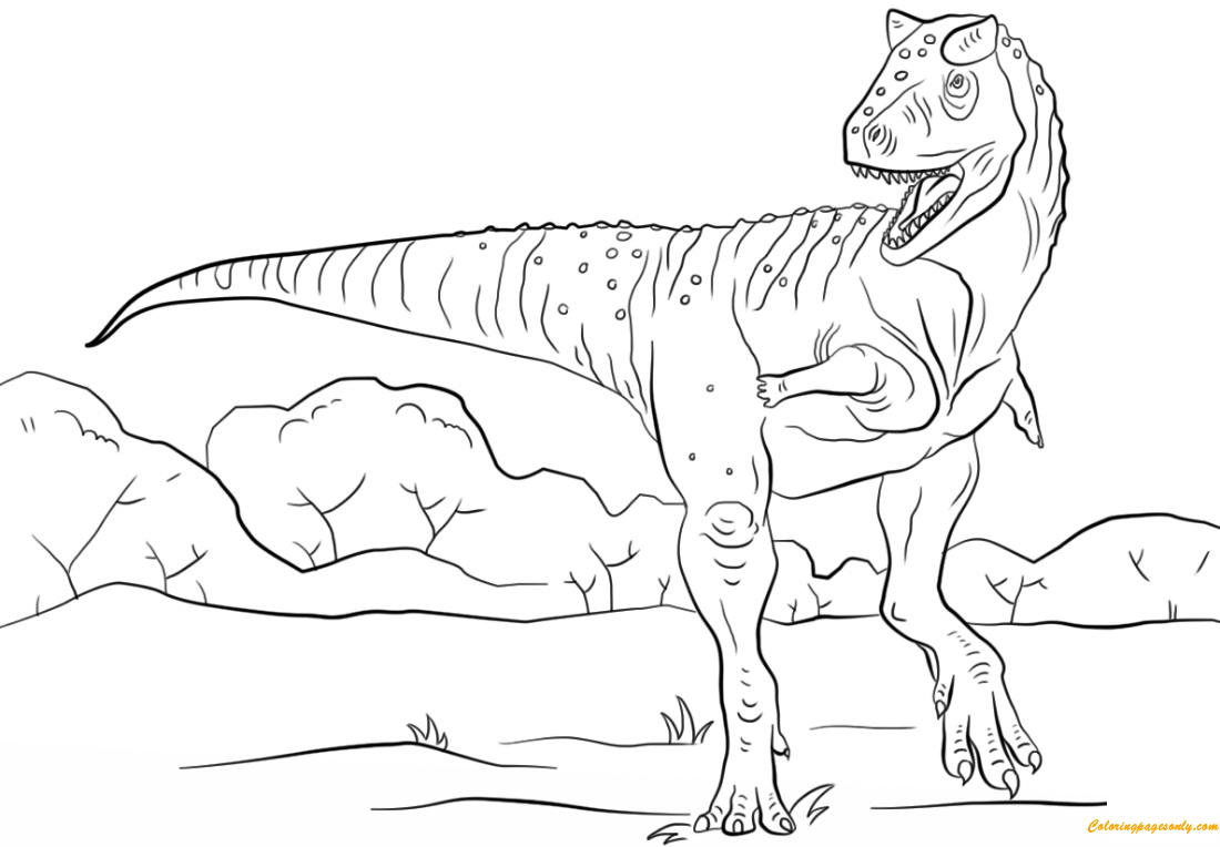 meat eating dinosaur coloring pages jurassic park carnotaurus coloring page free coloring pages eating coloring dinosaur meat