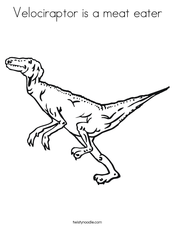 meat eating dinosaur coloring pages velociraptor is a meat eater coloring page twisty noodle pages coloring dinosaur meat eating