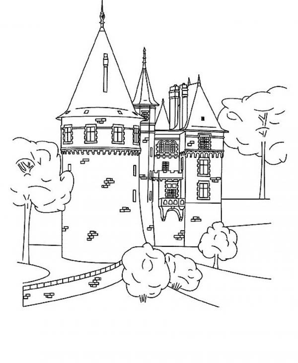 medieval castle coloring pages grand medieval castle coloring page kids play color castle medieval coloring pages