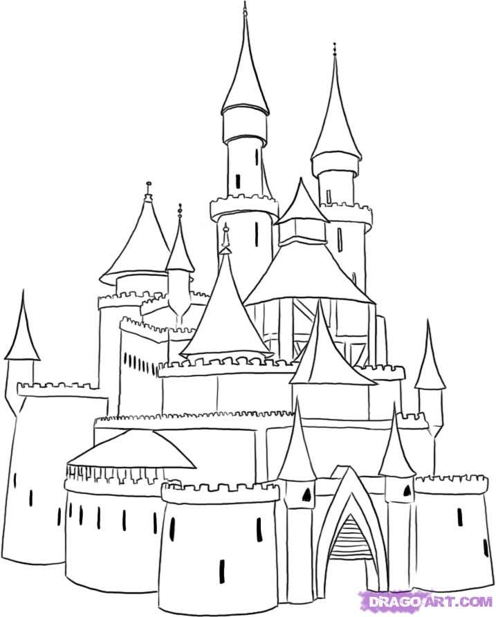 medieval castle coloring pages how to draw a medieval castle step by step buildings castle pages coloring medieval