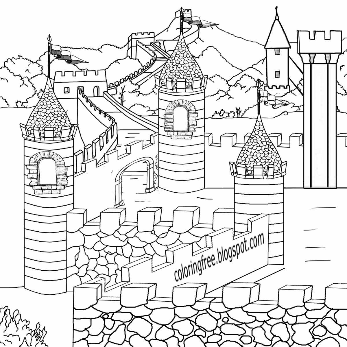 medieval castle coloring pages icolor quotmedievalquot castle coloring page coloring pages pages coloring castle medieval