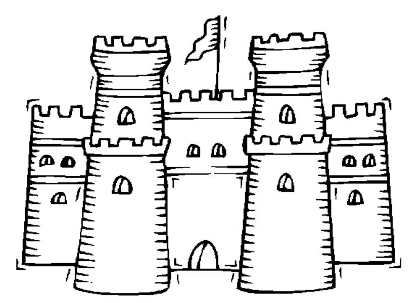 medieval castle coloring pages knight patrol around medieval castle coloring page kids coloring medieval castle pages