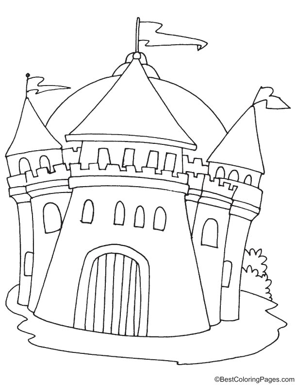 medieval castle coloring pages medieval ancient castle coloring page download free coloring castle medieval pages