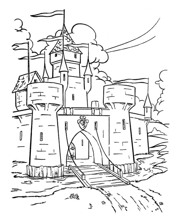 medieval castle coloring pages medieval castle coloring pages vector humorous cartoon pages coloring castle medieval