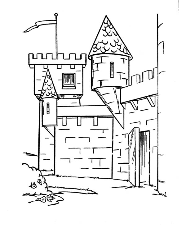 medieval castle coloring pages medieval castle side angle coloring page kids play color medieval castle coloring pages