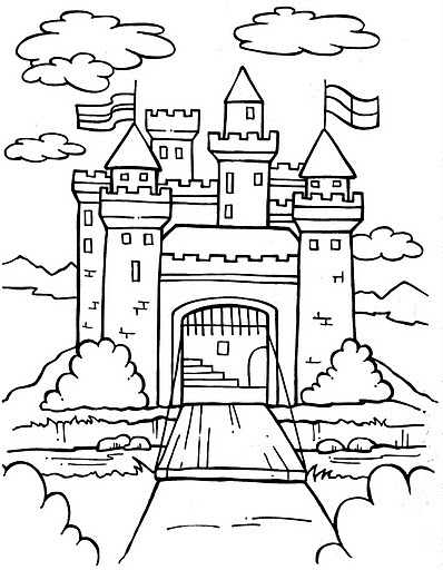 medieval castle coloring pages pinto dibujos castillo medieval para colorear castle coloring medieval pages