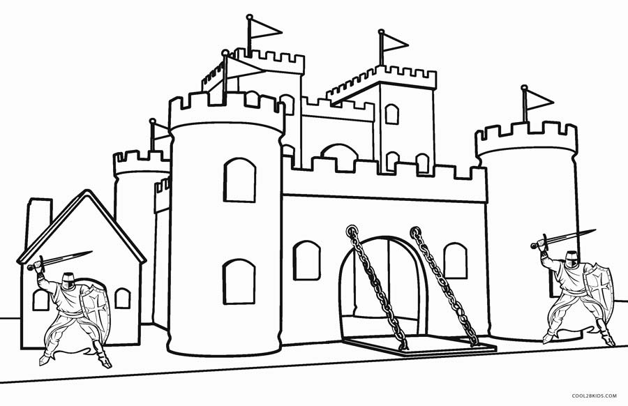 medieval castle coloring pages printable castle coloring pages for kids cool2bkids coloring castle medieval pages