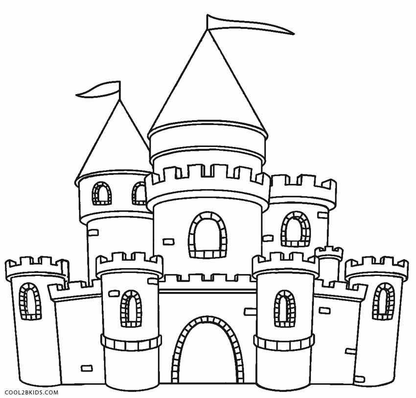 medieval castle coloring pages printable castle coloring pages for kids cool2bkids medieval castle pages coloring