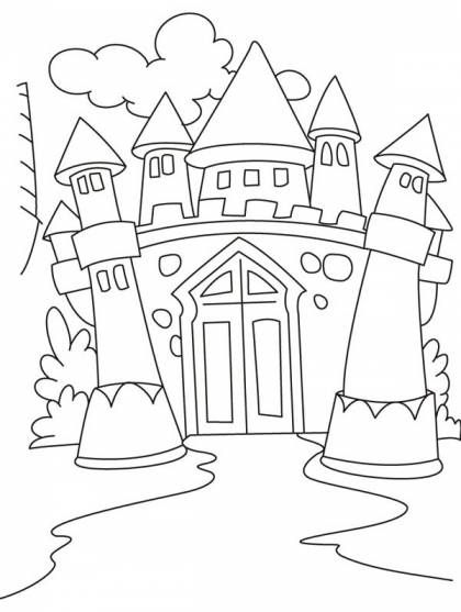 medieval castle coloring pages wonderful drawing medieval castle coloring page kids coloring castle medieval pages
