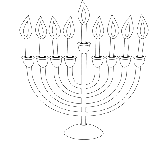 menorah coloring page 4 hanukkah coloring pages you can print and share with menorah coloring page