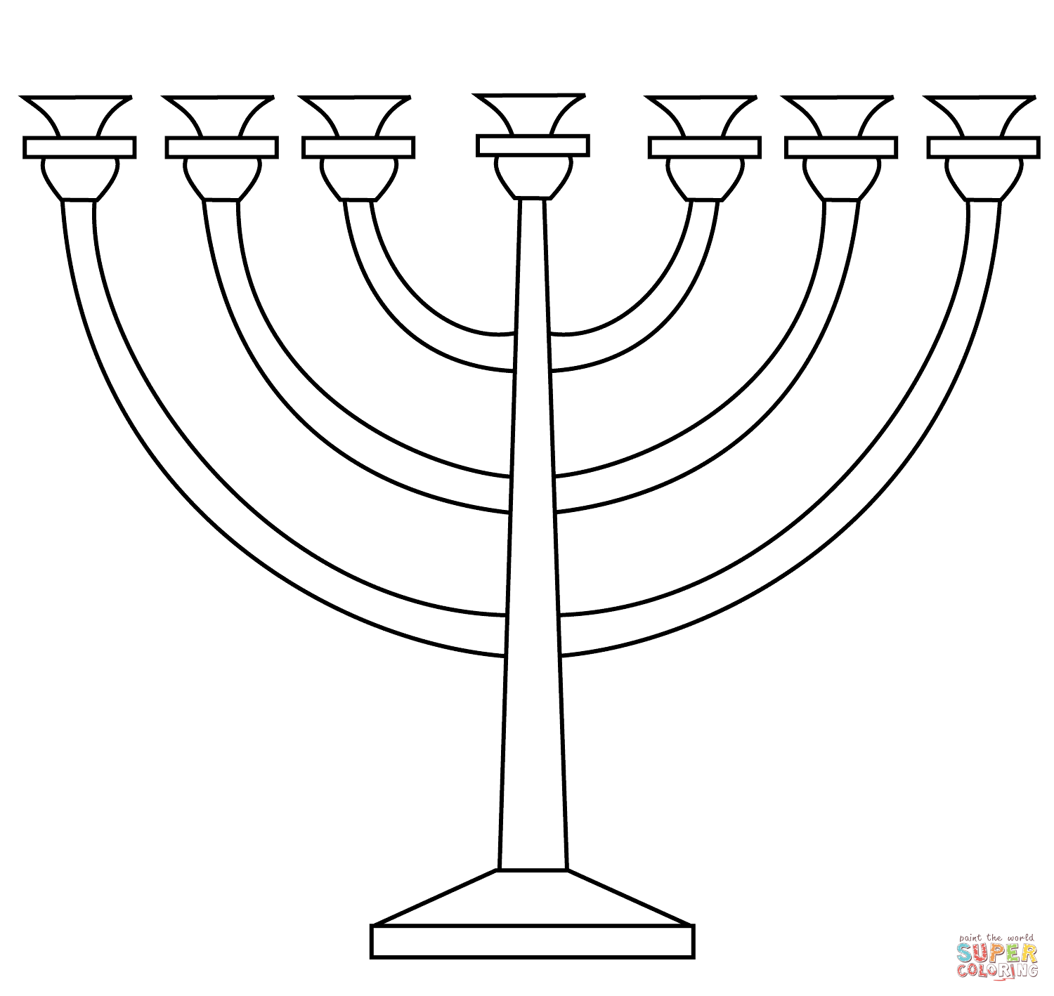 menorah coloring page the best free menorah drawing images download from 118 menorah page coloring