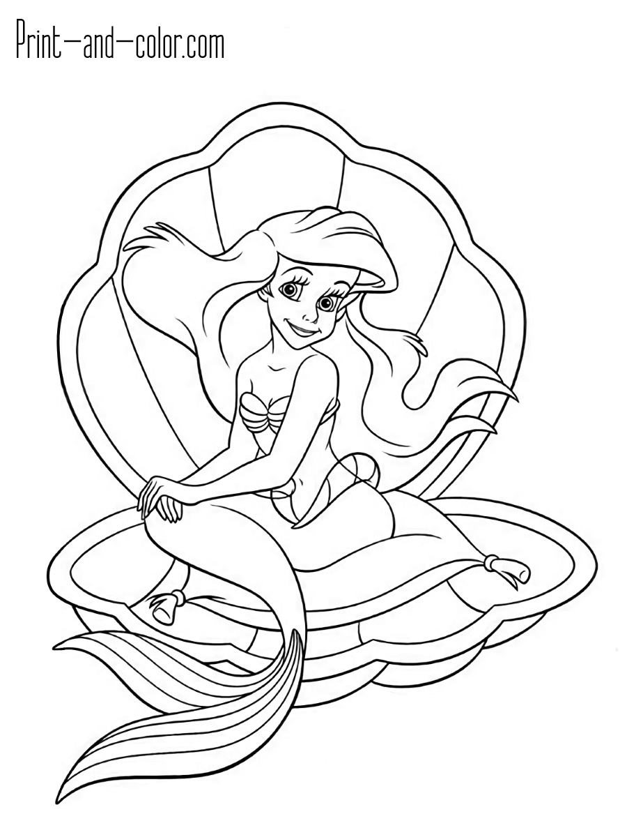 mermaid coloring pages the little mermaid coloring pages print and colorcom mermaid pages coloring