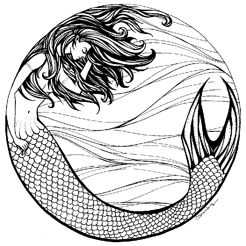 mermaid drawing live the life you love cherry blossoms and mermaids drawing mermaid
