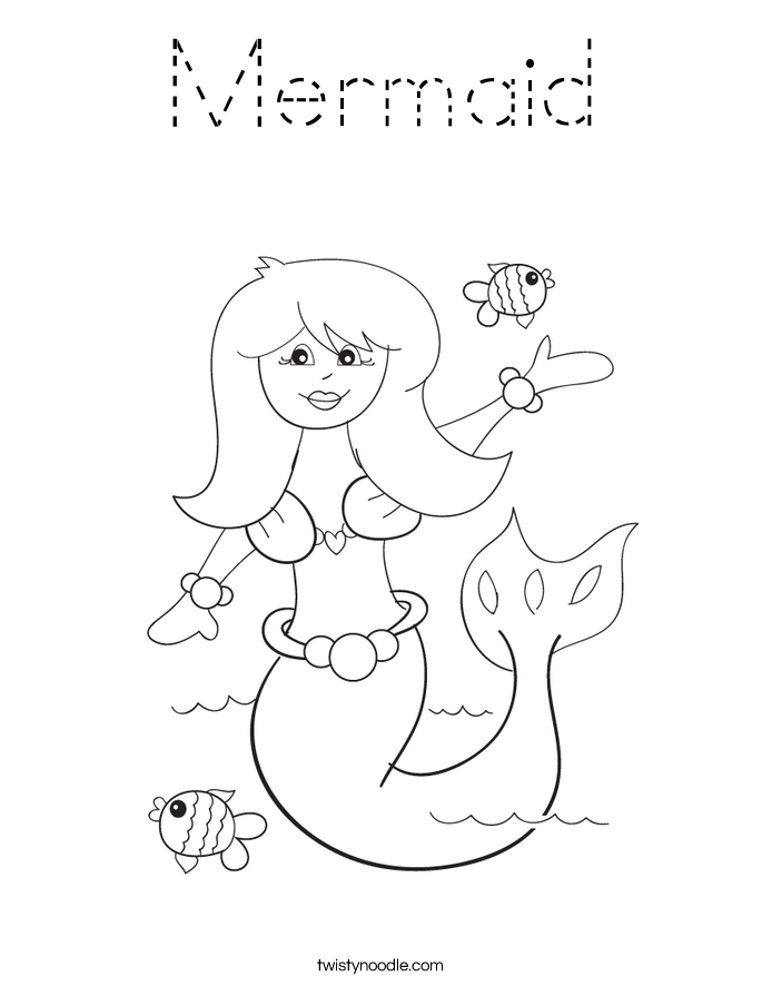 mermaid outline coloring pages mermaid drawing outline at getdrawings free download pages outline coloring mermaid