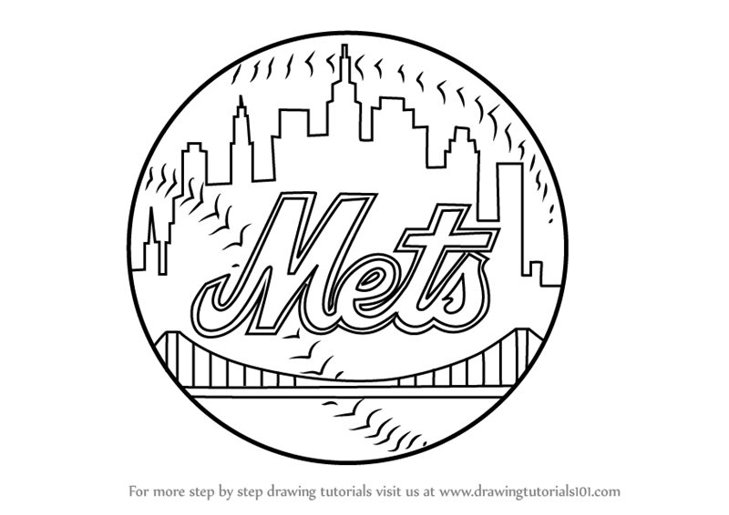 mets logo pictures learn how to draw new york mets logo mlb step by step mets logo pictures