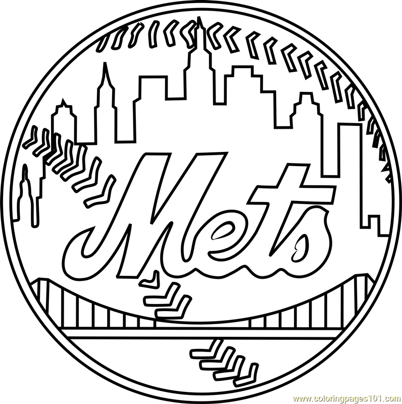 mets logo pictures new york mets logo coloring page free mlb coloring pages mets logo pictures