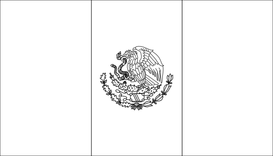 mexican flag template free mexican flag black and white download free clip art template flag mexican