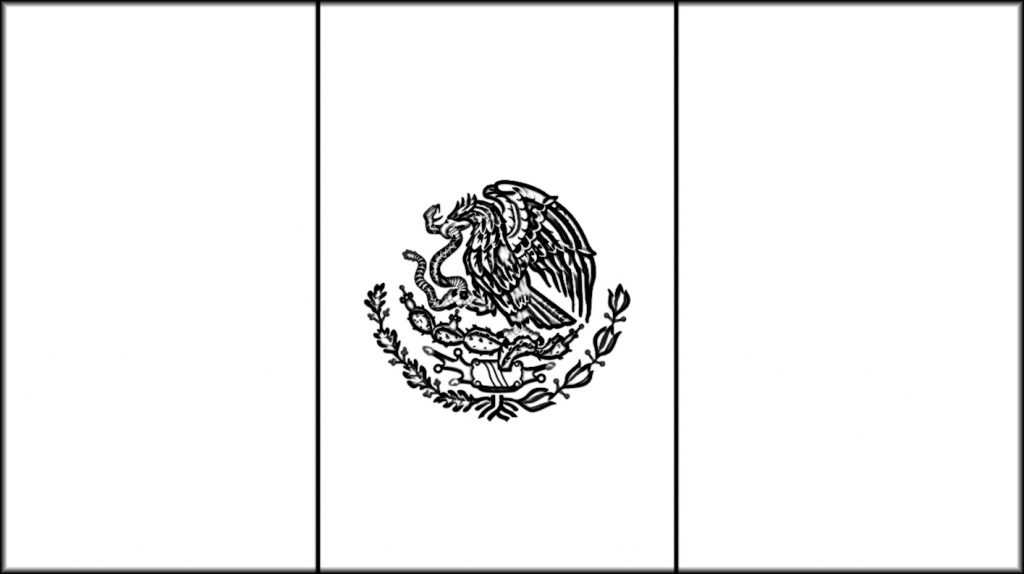 mexican flag template mexican coloring pages to print coloring home template flag mexican