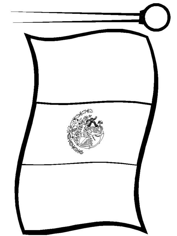 mexican flag template mexican flag print out free colorable mexican flag mexican flag template