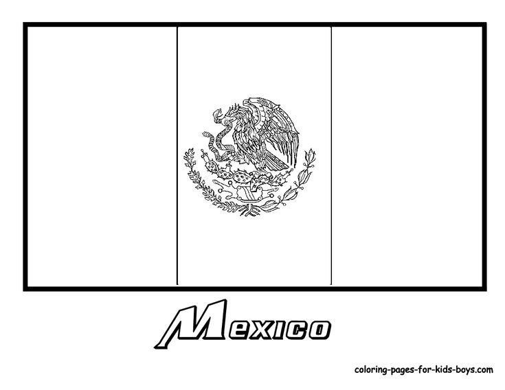 mexican flag template mexico flag coloring pages kids culture class mexican flag template