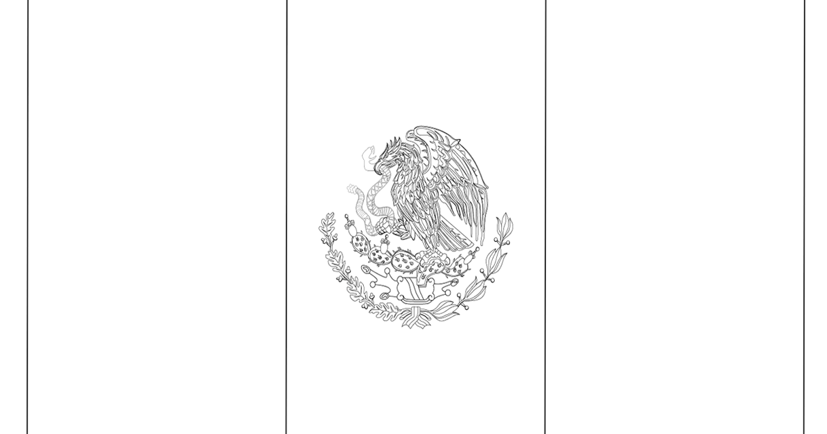 mexico flag outline flag mexico drawing mexican flag coloringdrawing page mexico flag outline
