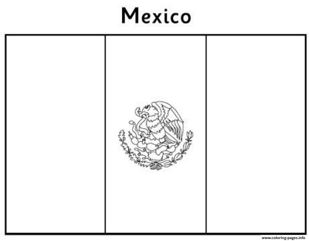 mexico flag outline free mexican flag e357 coloring pages printable flag mexico outline