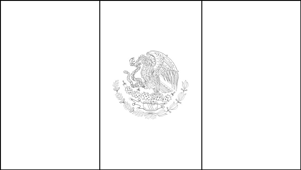 mexico flag outline how to draw the flag of mexico step by step stuff pop mexico outline flag