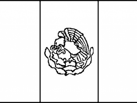 mexico flag outline mexican flag drawing at getdrawings free download flag mexico outline