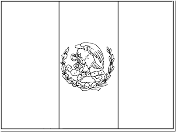 mexico flag outline mexico flag coloring pages flag mexico outline