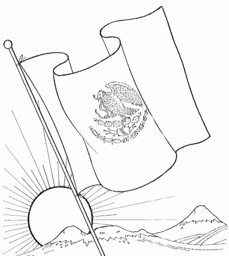 mexico flag to color 32 mexico flag coloring page in 2020 coloring pages flag to mexico color