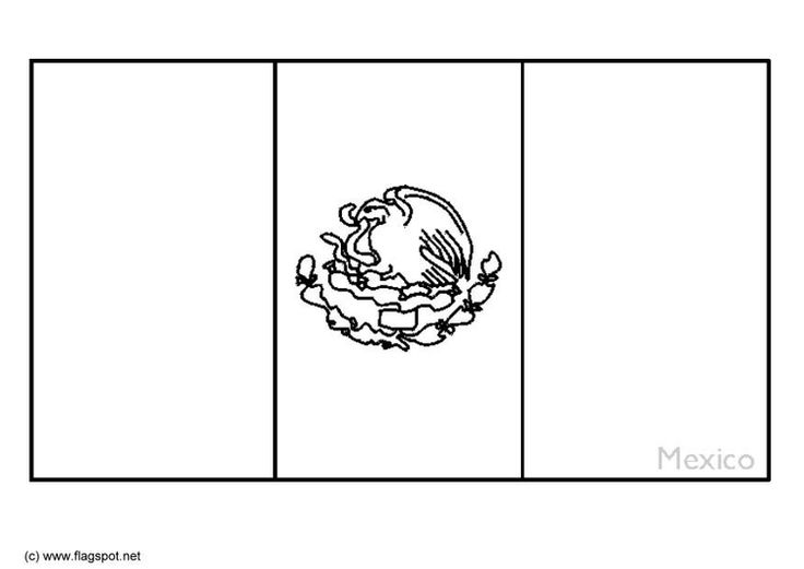 mexico flag to color coloring page flag mexico img 6337 flag coloring color mexico flag to