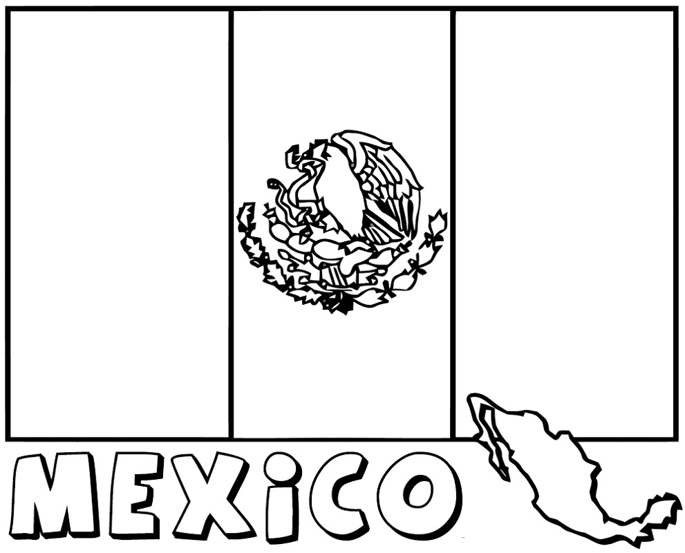 mexico flag to color mexican coloring pages to print coloring home to mexico color flag