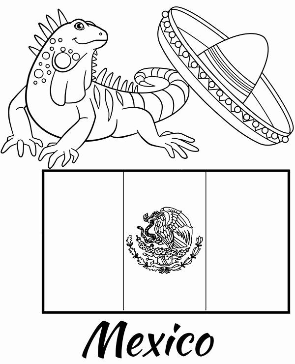mexico flag to color mexican flag coloring page fresh free coloring page mexico to color flag